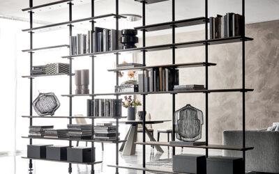 Dividere un ambiente con leggerezza: le librerie in centro stanza