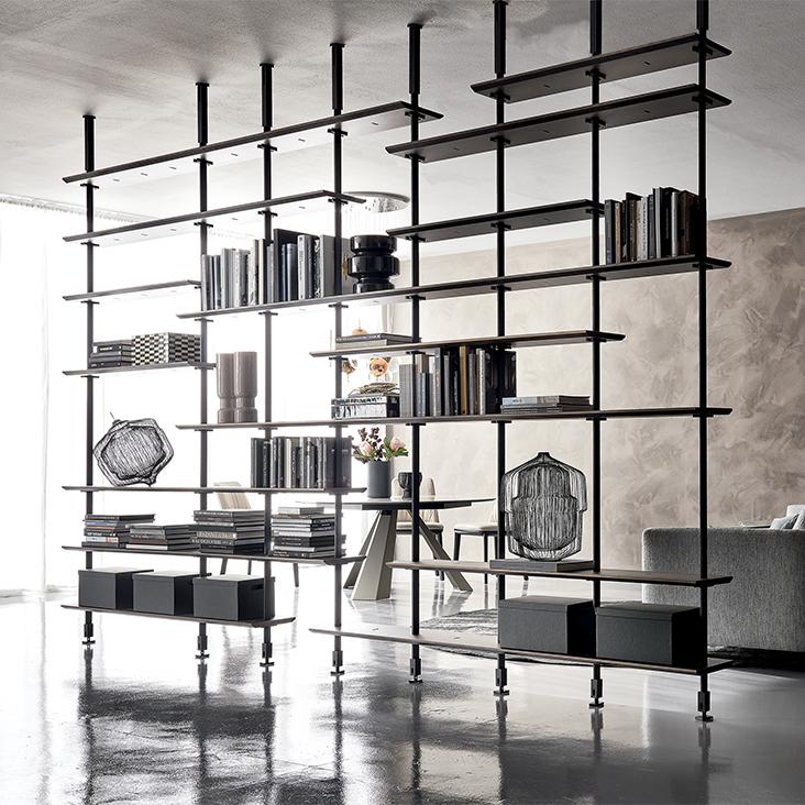Dividere un ambiente con le librerie, Cattelan italia e Bassi Arredamenti
