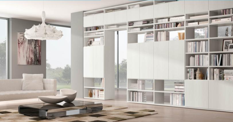 Dividere un ambiente con le librerie, Ferrimobili e Bassi Arredamenti